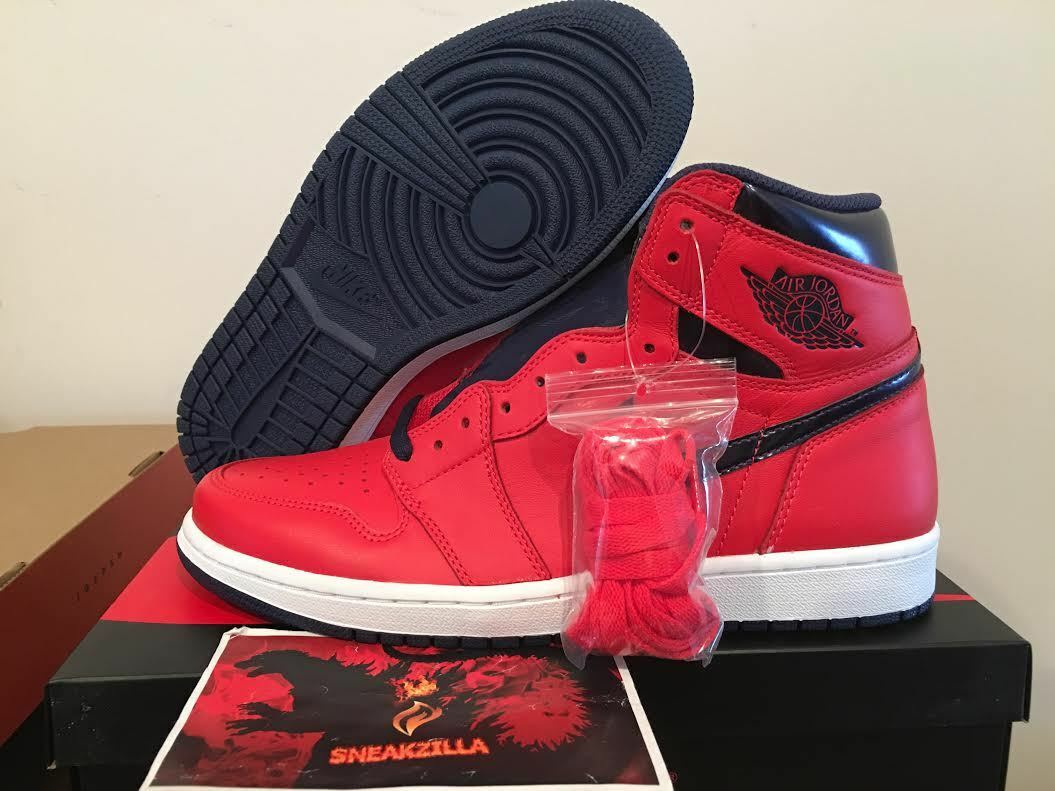 nike air jordan retro - 1 david haut - og david 1 letterman sur air 555088-606 Rouge  crimson ecb6bb