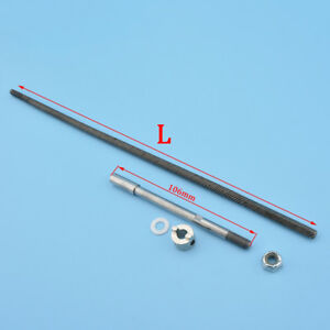 A set 6.35mm 1/4'' Ship Shaft Two ends Square Flexible Axle Shaft For RC Boat