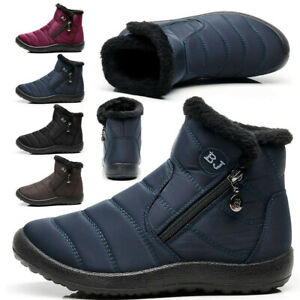 Mens Womens Winter Fur Lined Snow Boots