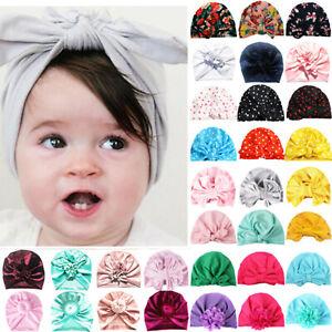 Toddler-Baby-Girls-Big-Bow-Knot-Hat-Turban-Headband-Cap-Cotton-Headwrap-Beanie