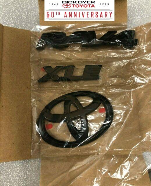 Genuine Toyota RAV4 XLE Blackout Black Emblem Overlays PT948-42192-02