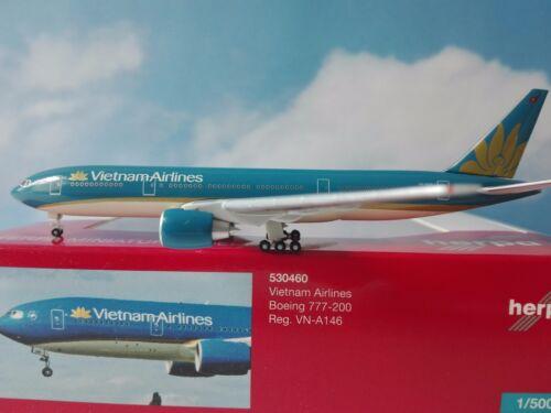 VN-A146 1:500 Herpa Wings Neuware 530460  Vietnam Airlines Boeing 777-200