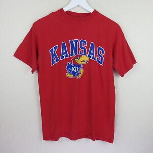 Champion-Red-KU-Kansas-Jayhawks-T-Shirt-Men-039-s-M