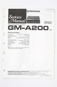 Pioneer gm-a200 EW CAR AMPLIFIER SERVICE MANUAL/WIRING DIAGRAM ...