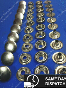 316 Stainless Steel Snap Fastener Press Stud Marine Canopy Cap Button x 20 Sets