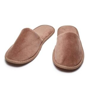 eb505ba805643 Image is loading Chocolate-Closed-Toe-Terry-Unisex-Slippers-or-SPA-