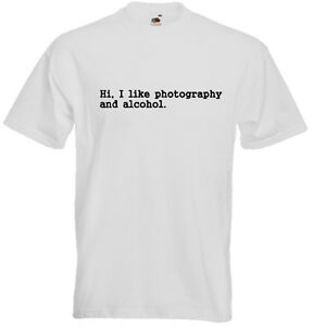 Photography-And-Alcohol-Funny-Men-039-s-Unisex-T-SHIRT-Photographer-Student-Gift
