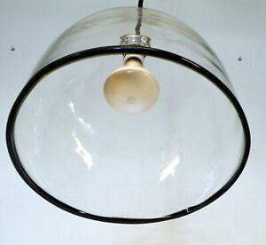 Lampada lampadario cupola soffitto vetro Murano Renato Toso per Leucos 1960 lume