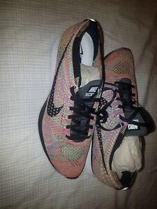 buy online d7dd4 084d8 Image is loading Nike-Flyknit-Racer-Multi-Color-Size-9-5-