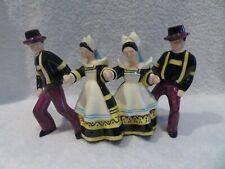 4 danseurs bretons Henriot Quimper Micheau Vernez (Quimper Pottery) h 15,4cm