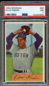 1954 Bowman BB Card # 98 Ellis Kinder Boston Red Sox PSA NM 7 !!
