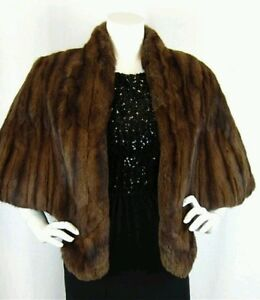 Genuine-Sable-Russian-Squirrel-Fur-Stole-Shrug-Shawl-Coat-Jacket-Wrap-Cape
