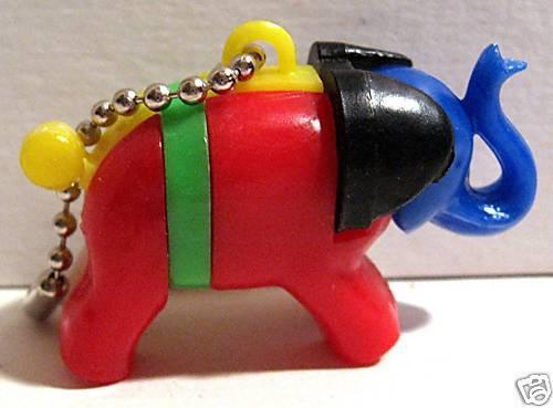 1960 Gumball Machine Toy Elephant Keychain Puzzle