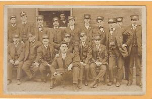 Real Photo Postcard RPPC - Large Group of Conductors