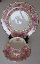 Vintage Royal Albert Serena England Trio Gold Trimmed Tea Cup Saucer & Plate UK