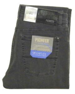 PIONEER-MEGAFLEX-RANDO-STRETCH-Jeans-Gr-ab-W34-GRAU-3-Wahl-ARBEITSHOSEN