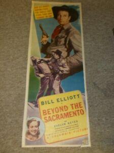 "BEYOND THE SACRAMENTO(1940)BILL ELLIOT ORIGINAL INSERT POSTER 14""BY36"" NICE!"