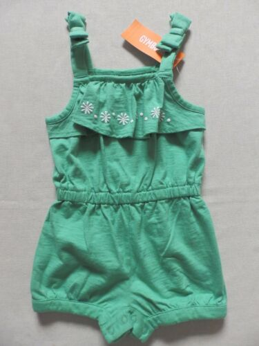 Gymboree HOP /'N/' ROLL Sunny Dots Green Short Romper 1pc NWT 12-18 months
