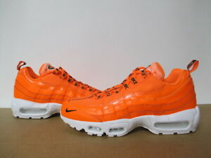 Details about NIKE AIR MAX 95 PREMIUM TOTAL ORANGE BLACK WHITE SZ 8 13