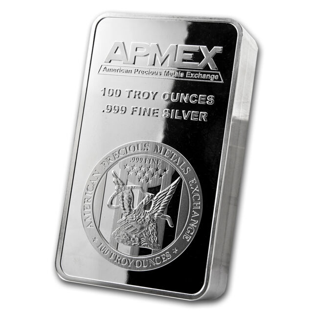100 oz APMEX Struck Silver Bar - Eagle Design - SKU #73165