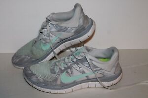 official photos 69b57 98cc9 Details about Nike Free 4.0 V4 Running Shoes, #642200-130, White/Grey/Mint,  Womens US 6.5
