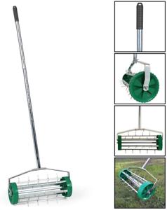 Jardinage Pelouse aérateur de gazon rouleau réglable avec niveau 3 manche télescopique