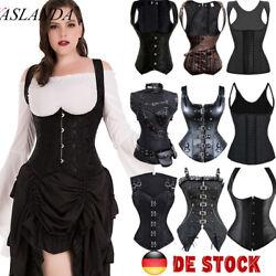 Steampunk Korsett Bustier Top Gothic Sexy Dessous Damen Vollbrust Party Korsage