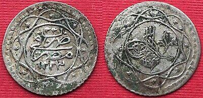 Rare Egypt 10 Para Sultan Mahmoud Ii 1223/22 Ah Ottoman M4-4