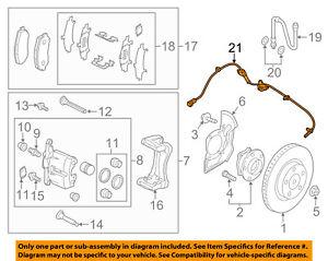 mazda oem 2017 cx-5 abs anti-lock brakes-front speed sensor ka0g4370x   ebay  ebay