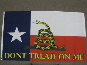 DON-039-T-TREAD-ON-ME-FLAG-3X5-FEET-BANNER-SIGN-TEXAS-GADSDEN-TEXANS-3-039-X5-039-NEW-F596