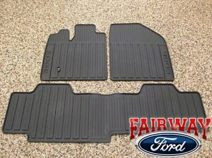 07 08 09 10 Edge Oem Genuine Ford Black Rubber All Weather