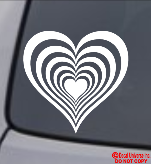 CALIFORNIA LOVE HEART Vinyl Decal Sticker Car Window Wall Bumper Golden State