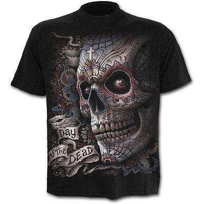 Spiral Direct EL MUERTO T-Shirt, Sugar Skull, Biker, Tattoo, Day Of The Dead