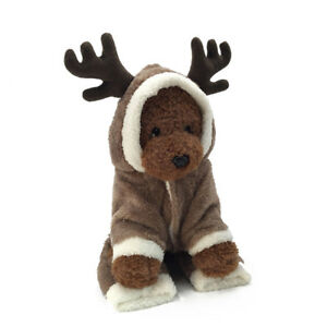 NEW-Fancy-Xmas-Reindeer-Dog-ELK-Costume-Pet-Cat-Hooded-Clothes-Coat-Puppy-Outfit