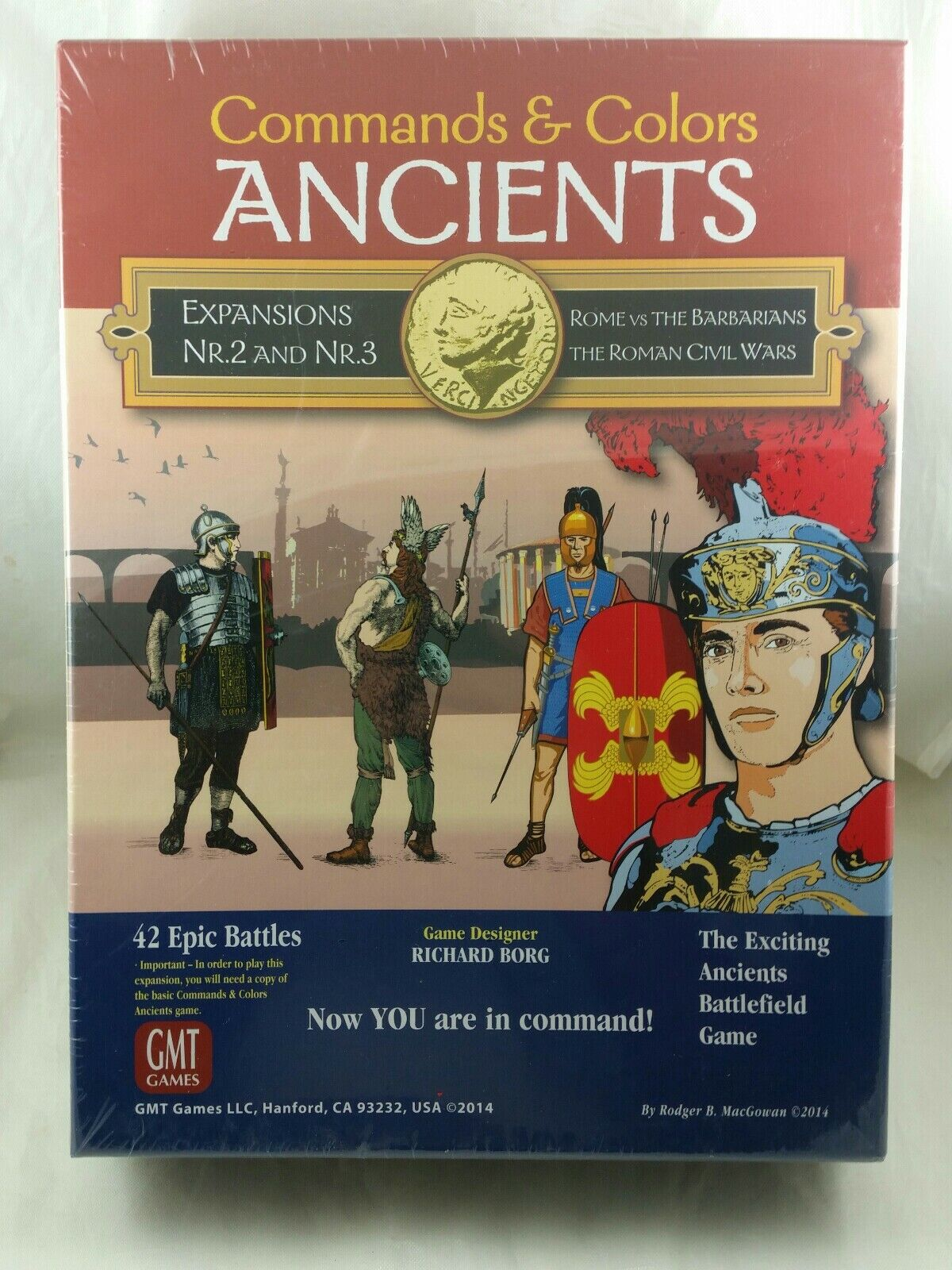 GMT Games-Command & Couleurs Ancients Expansion 2 & 3, Brand New Sealed