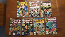 Hands Of Shang-Chi - Master of Kung Fu #42, 58,  61, 69, 74, 75, & 76 - MARVEL