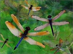 Ceramic-Tile-Mural-Backsplash-Bradshaw-Dragonfly-Garden-Art-OB-MB25