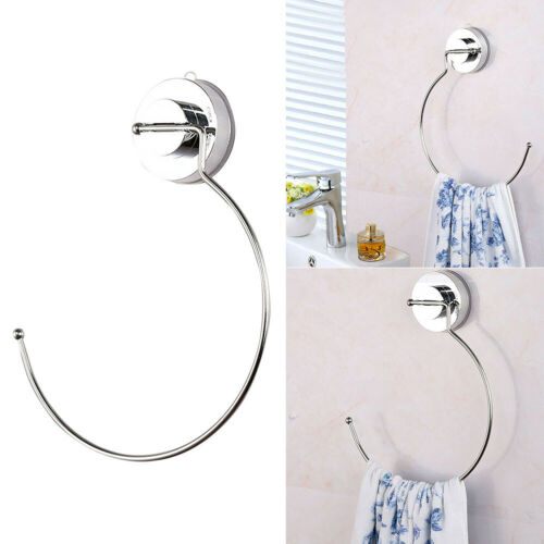 Towel Storage Holder Ring Wall Mounted Suction Cup Kitchen Bathroom Accessories