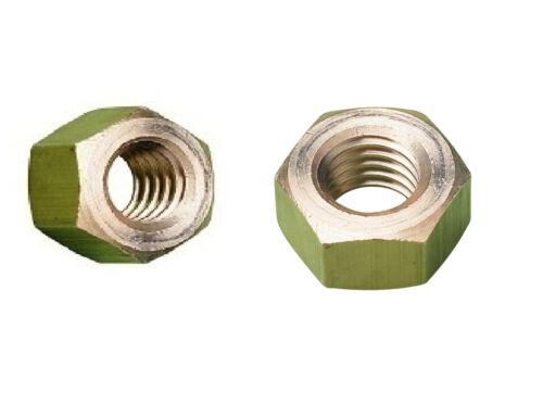 4 PACK M12 Brass Hexagon Full Nuts 12MM Hex 12mm DIN 934