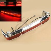 Chrome Led Tail Brake Light Accent For Harley Touring Trunk King Tour Pack 09-13