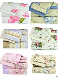 Super-Soft-Luxury-Floral-Six-6-Piece-Bed-Sheet-Set-comes-in-4-Sizes-amp-6-Colors