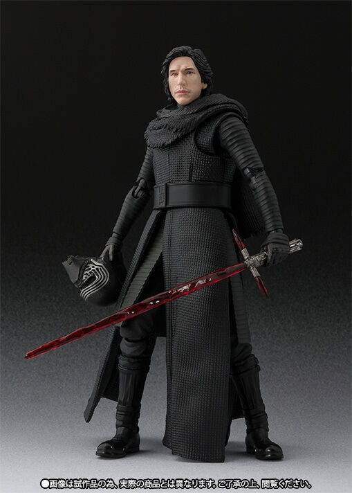 S.H.FIGUARTS STAR WARS KYLO REN w  UNMASKED PARTS Force Awakens Action Figure