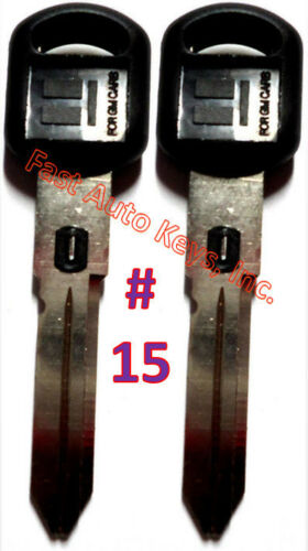 MADE IN USA 2 NEW GM Double Sided VATS Ignition Key #9 UNCUT V.A.T.S B82-P9