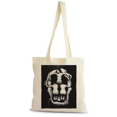 cadeau In Voluptate Mors H Tote Bag Sac Shopping Bag naturel coton beige
