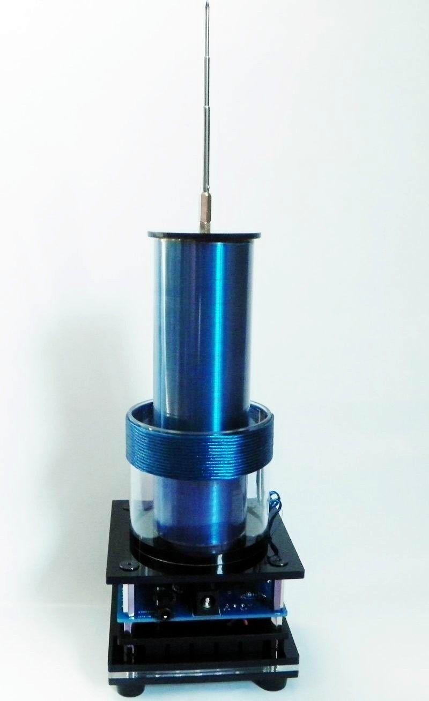 1pc nuevo Mini altavoz de plasma de bobina de Tesla música-Tesla Coill + potencia