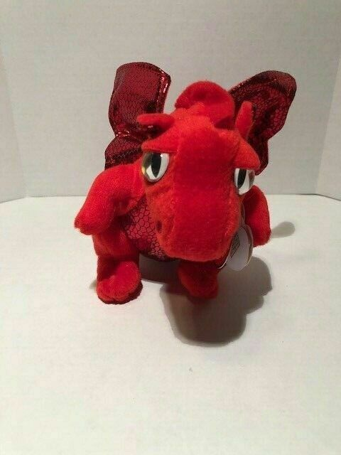 "MWMT Ty Beanie Baby ~ FIRE the Dragon 6/"" Great Wolf Lodge Magiquest Exclusive"