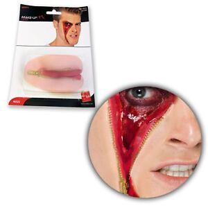 Image is loading Halloween-Horror-Zipper-Face-Zip-Scar-SFX-Makeup-