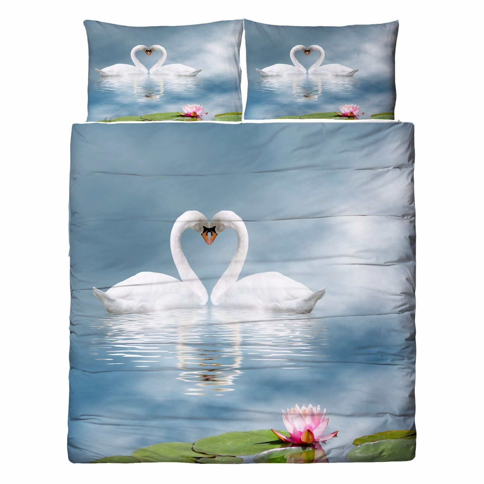 3D Swan River Sky 806 Bed Pillowcases Quilt Duvet Cover Set Single Queen UK Kyra