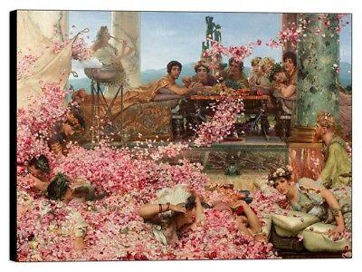 A Reading from Homer Stampa su Tela Vernice Effetto Pennellate Alma Tadema