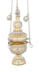 Two-Colored-Greek-Russian-Orthodox-Christian-Church-Liturgical-Thurible-Censer
